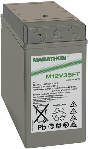 Ólomakku 12 V 35 Ah GNB Marathon M 12 V 35 FT UL94 NAMF120035VM0MA Ólomzselés (AGM) 107 x 189 x 280 mm