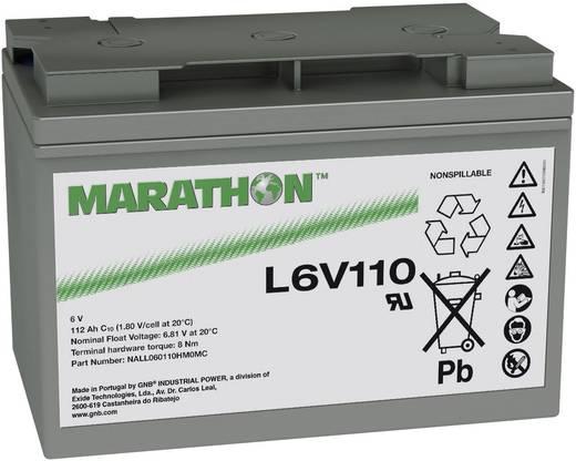 Ólomakku 6 V 112 Ah GNB Marathon L6V110 NALL060110HM0MC Ólom-vlies (AGM) 272 x 190 x 166 mm Karbantartásmentes