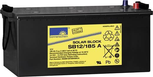 Szolár akku 12 V 185 Ah GNB Sonnenschein NGSB120185HS0CA Ólom-zselés (Sz x Ma x Mé) 518 x 238 x 274 mm