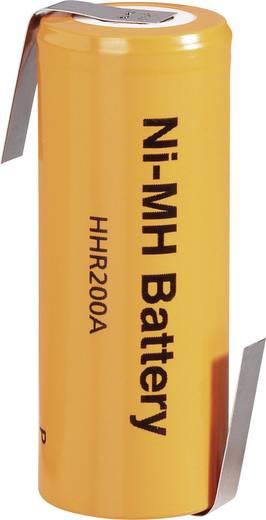 NiMH akku 4/5 A ZLF, HHR-200AB27-1Z, Panasonic 1.2 V 2000 mAh (Ø x Ma) 17 mm x 43 mm
