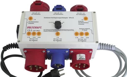 CEE mérőadapter, VDE teszter funkcióval 32A-ig Voltcraft VPA-35