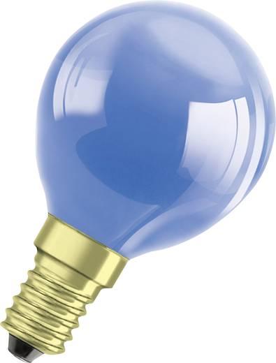 Gömb izzó, E14 11 W, kék, csepp forma, Osram 4008321545787