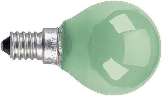 Gömb izzó, E14 11 W, zöld, csepp forma, Osram 4008321545800