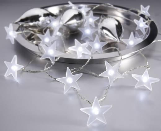 Beltéri LED-es karácsonyfa fényfüzér, csillagok, 20 melegfehér LED, 430 cm, 78549