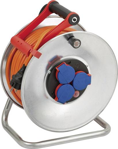 Kábeldob 40 m, IP44, fém, 3 részes, XYMM 3 G 1,5 mm², 230V, Brennenstuhl 1198470