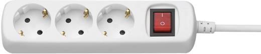 Kapcsolós elosztó világítós 3 részes fehér 1,4 m GAO