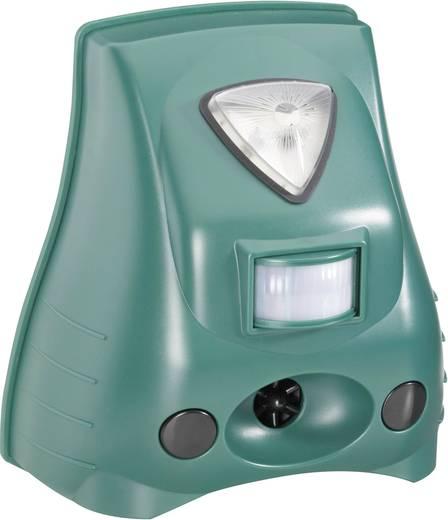 Ultrahangos és villanófényes kártevő, kutya, macska riasztó mozgásérzékelővel 40 m², Conrad 8699c