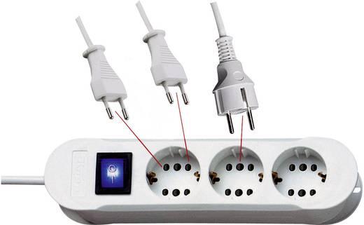 Kapcsolós elosztó világítós 3/6 részes fehér 1,4 m Kopp 2235.0201.7