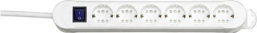 Kapcsolós elosztó világítós 6/12 részes fehér 1,4 m Kopp 2236.0201.0