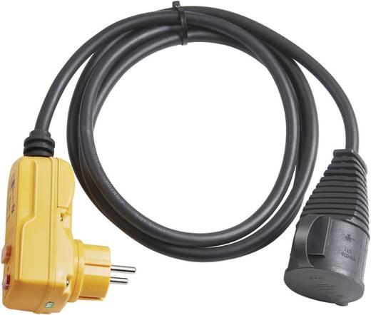 Személyvédős, gumi hálózati hosszabbítókábel védőkupakkal, fekete, 2 m, H07RN-F 3G 1,5 mm², Brennenstuhl 1160370