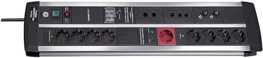 Hálózati elosztó túlfeszültség védelemmel, 9 részes, telefon/ISDN/TV, fekete-ezüst, 3 m, 120 kA, Brennenstuhl 1392000120