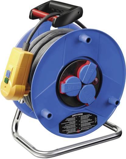 FI személyvédős kábeldob 20 m, IP44, kék, 3 részes, H05RR-F 3 G 1,5 mm², 230V, PRCD-2P, Brennenstuhl 1218390