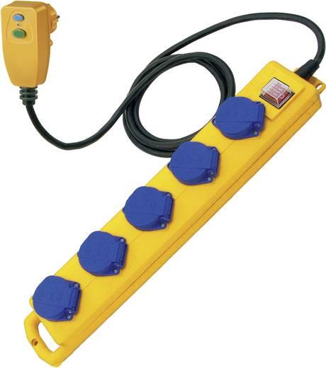 Érintés védelmi személyvédős FI elosztó 5 részes sárga-kék 5 m Brennenstuhl 1159870816