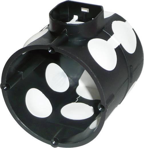 Süllyeszthető kapcsolódoboz, Ø 60 mm, szélálló, mély, fekete
