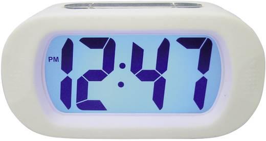 Digitális ébresztőóra háttérvilágítással, 140 x 70 x 45 mm, fehér, 22628-13