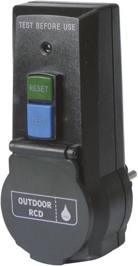 Konnektorba dugható személyvédős közdugó, fekete, IP44, PRCD-2P