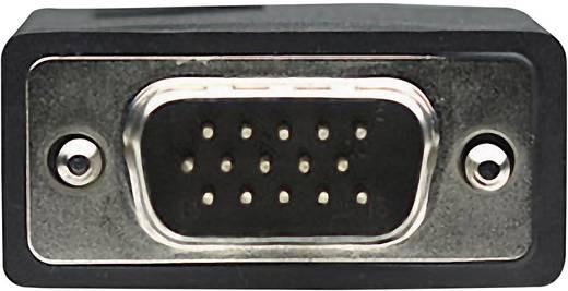VGA hosszabbítókábel [1x VGA dugó 1x VGA alj ] 15 m fekete Manhattan 313612