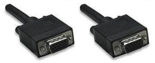 VGA kábel [1x VGA alj 1x VGA alj ] 1.8 m fekete Manhattan 308632