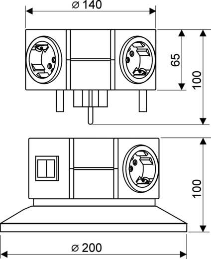 VARIO TOWER Alapmodul kapcsolóval + túlfeszültségvédős modul Ehmann 0530x0010 + 0531x0120