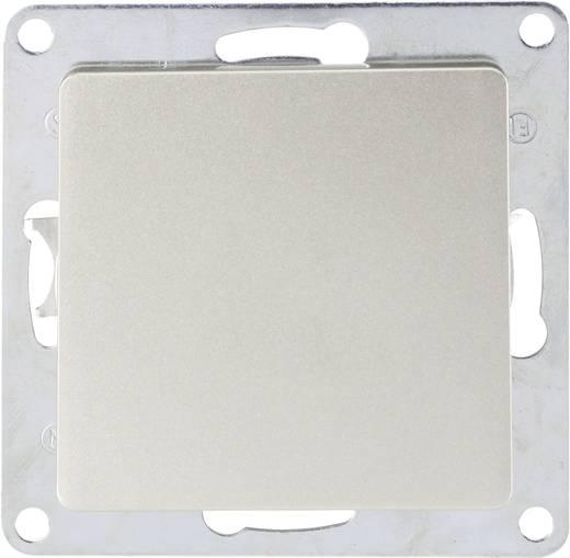Lámpa kapcsoló (keret nélkül), nikkel, GAO Satin 4250