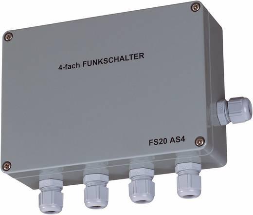 Conrad FS20 AS4 falra szerelhető vezeték nélküli vevő, 4 csatornás, 3680VA, 868MHz
