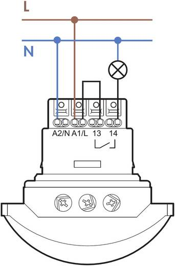 Mozgásérzékelő átjárókhoz Finder 18.41.8.230.0300 Üzemi feszültség 110 - 230 V/AC Hőmérséklettartomány -10 - +50 °C