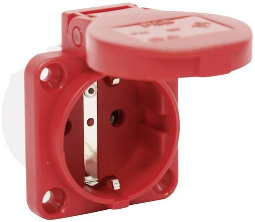 Védőérintkezős gép dugaszoló aljzat, 230 V/AC 16 A IP54, piros, PCE 601.450.04