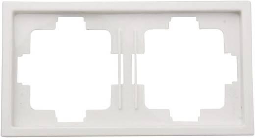 Kapcsoló keret, 2 részes kapcsolóhoz, fehér GAO 3514 Starline