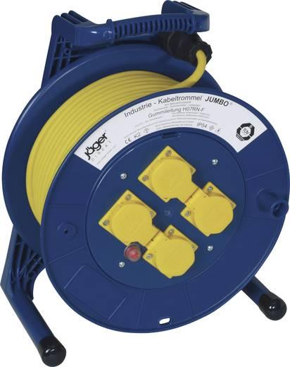 Kábeldob 40 m, IP54, kék-sárga, 4 részes, H07RN-F 3 G 1,5 mm², 230V, Jumbo 266.654.1405