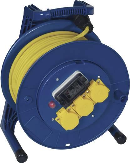 FI személyvédős kábeldob 40 m, IP44, kék/sárga, 3 részes, H07RN-F 3 G 1,5 mm², 230V, Jumbo 266.653.1405.07