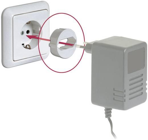 Földelt konnektor átalakító adapter euró aljra, fekete, Pinfix