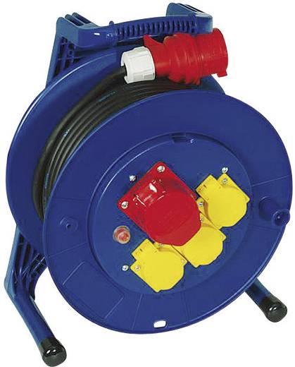 Kábeldob 20 m, IP44, kék-sárga, 4 részes, CEE dugóval, HO7RN-F 3 G 2,5 mm², 400V, Jumbo 266.653.2201.23
