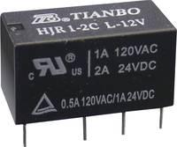 Tianbo Electronics HJR1-2C-L-12VDC Nyák relé 12 V/DC 2 A 2 váltó 1 db (HJR1-2C-L-12VDC) Tianbo Electronics