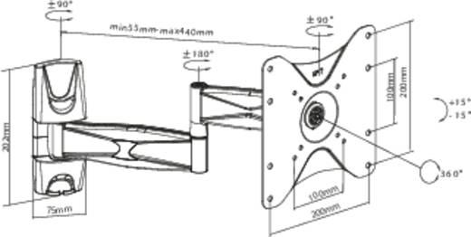 """TV fali tartó konzol, forgatható, dönthető, bükk színű 58 cm - 107 cm (23"""" - 42"""") SpeaKa Professional 629568"""