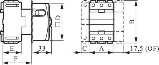 Terhelés leválasztó kapcsoló, lezárható IP40 63 A, BACO BA 174301