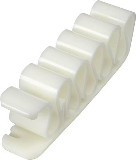 Kábel klipsz fehér, tartalom: 1 db