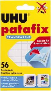 Ragasztó lapok, UHU patafix, átlátszó, tartalom: 56 db UHU