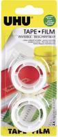 UHU feliratozható iskolai ragasztószalag (H x Sz) 7.5 m x 19 mm 2 tekercs UHU Film UHU