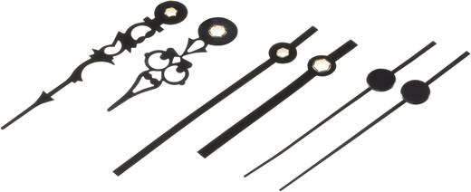 Óramutató készlet, antik + modern, alu, fekete, 55 x 75 x 60 mm