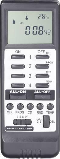 Vezeték nélküli kézi távirányító LCD-vel, 16 csatornás, max. 50 m, fekete, RSLT