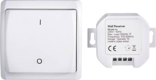 Vezeték nélküli beépíthető kapcsoló készlet, 2 részes, max. 70m, RSL
