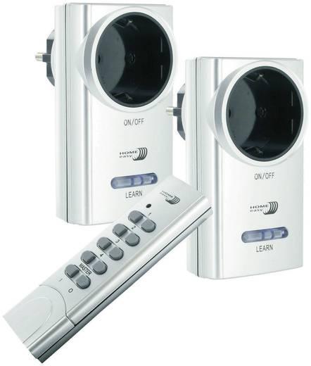 Vezeték nélküli konnektorba dugható kapcsoló készlet, 3 részes, 433 MHz max. 1000 W, ELRO Home Easy HE801SA