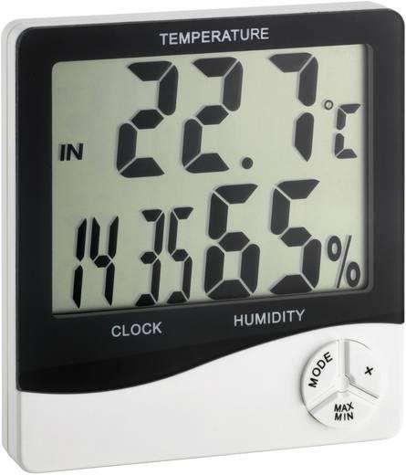 Digitális hőmérő- és légnedvesség mérő, órával, TFA 30.5031