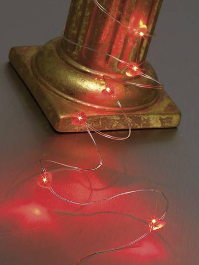 Beltéri LED-es fényfüzér, szív motívumos, 10 LED, elemes