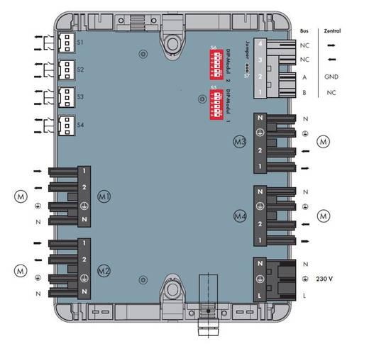 Hálózati csatlakozó egyenes dugó, egyenes alj, fekete, WAGO 770-5001/100-000 15 db