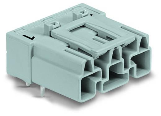 Hálózati csatlakozó dugó, beépíthető, vízszintes, pólusszám: 3, 25 A, fehér, WAGO 770-833/011-000, 100 db