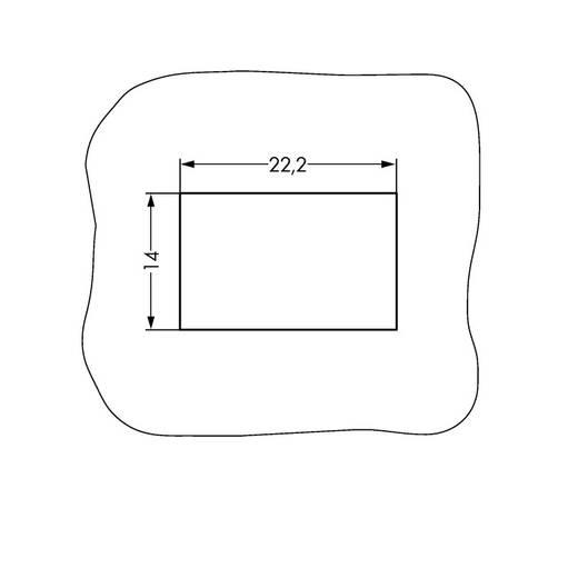 Hálózati csatlakozó alj, egyenes, pólusszám: 3, 16 A, fehér, WAGO 890-723, 50 db