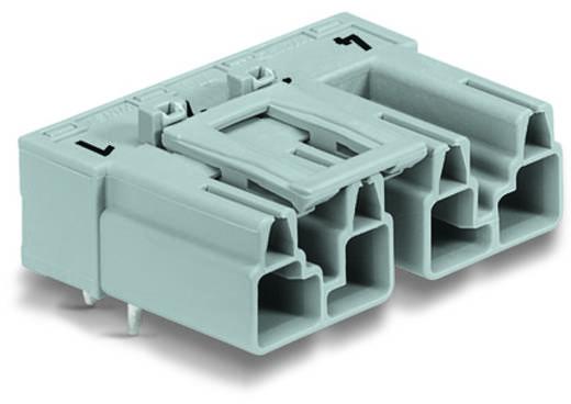 Hálózati csatlakozó dugó, beépíthető, vízszintes, 25 A, pólusszám: 4, szürke, 50 db, WAGO 770-854/011-000/060-000