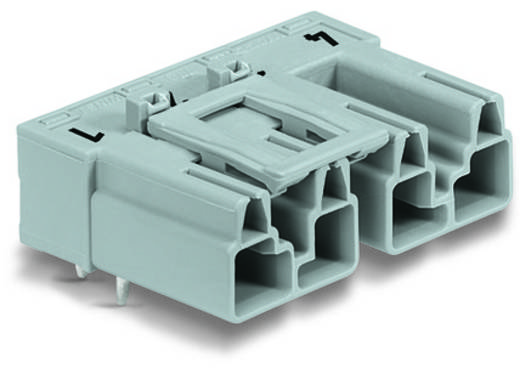 Hálózati csatlakozó dugó, beépíthető, vízszintes, pólusszám: 4, 25 A, szürke, WAGO 770-854/011-000, 50 db