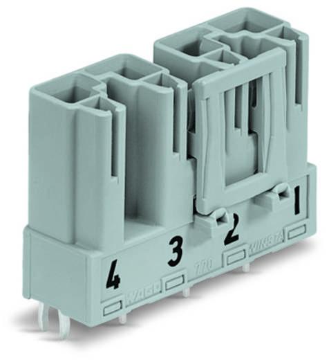 Hálózati csatlakozó dugó, beépíthető, vízszintes, 25 A, pólusszám: 4, fekete, 50 db, WAGO 770-814